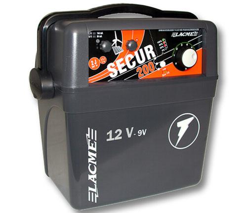 Weidezaunger t lacme batteriebetrieben secur 200 12v for Elettrificatore lacme