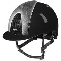 HELM KEP ITALIA CROMO METAL BLACK FRONT AND REAR ARGENTO FLOREALE